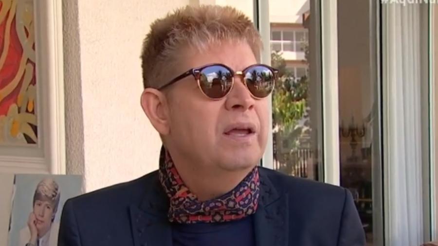 """Roberto Leal deu entrevista no programa """"Aqui na Band"""" em sua última aparição na televisão - Reprodução/Band"""