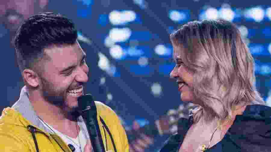 Murilo Huff e a mulher, Marília Mendonça, em gravação de DVD em Goiânia - Flaney/Divulgação