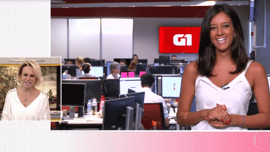 Ana Maria Braga e Luiza Tenente no Mais Você - Reprodução/TV Globo