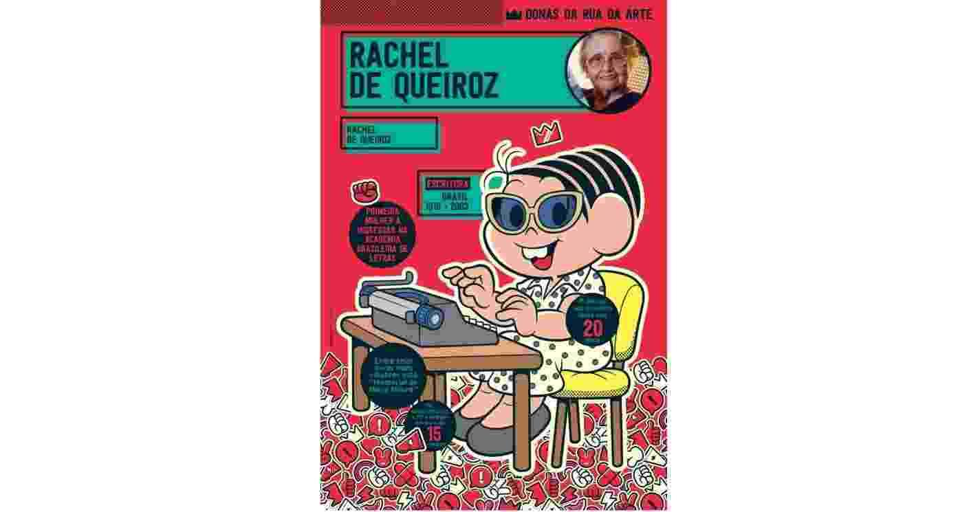 Mônica como a escritora Rachel de Queiroz - Divulgação