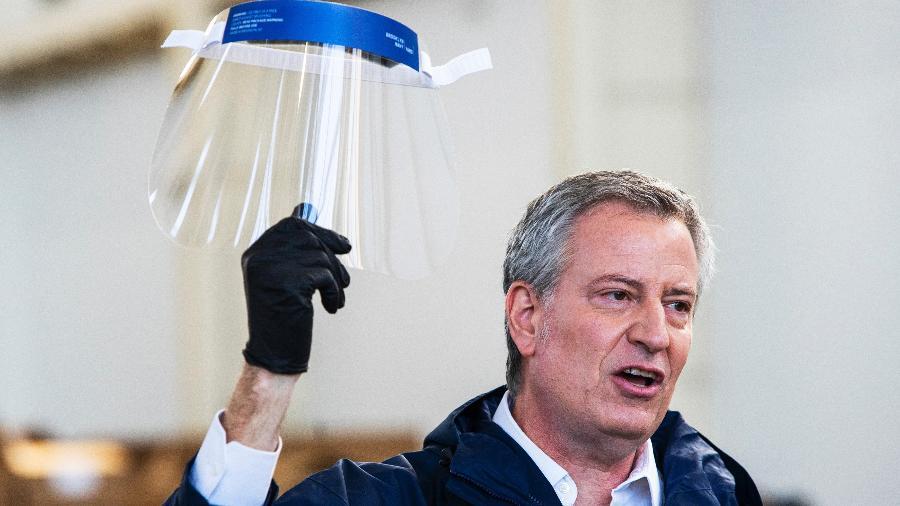 O prefeito de Nova York, Bill de Blasio - Getty Images