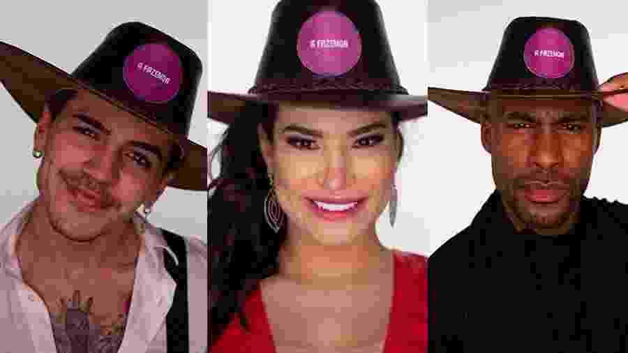 A FAZENDA 2020: Biel, Raissa e Rodrigo estão na roça - Reprodução/Playplus