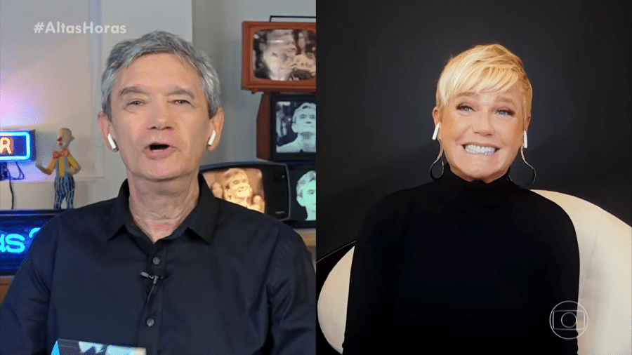 Xuxa e Serginho Groisman no Altas Horas - Reprodução/TV Globo