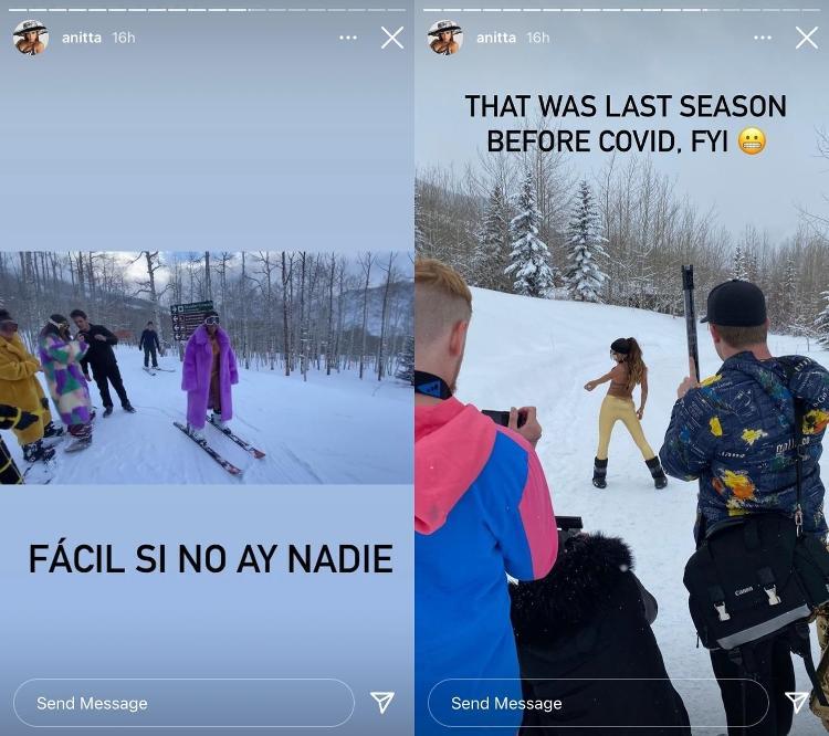 Anitta divulga imagens dos bastidores da gravação do clipe da música 'Loco' - Reprodução/Instagram - Reprodução/Instagram