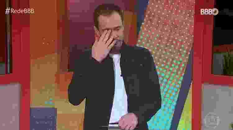 BBB 21: Tiago Leifert chora no BBB Dia 101 - Reprodução/TV Globo - Reprodução/TV Globo