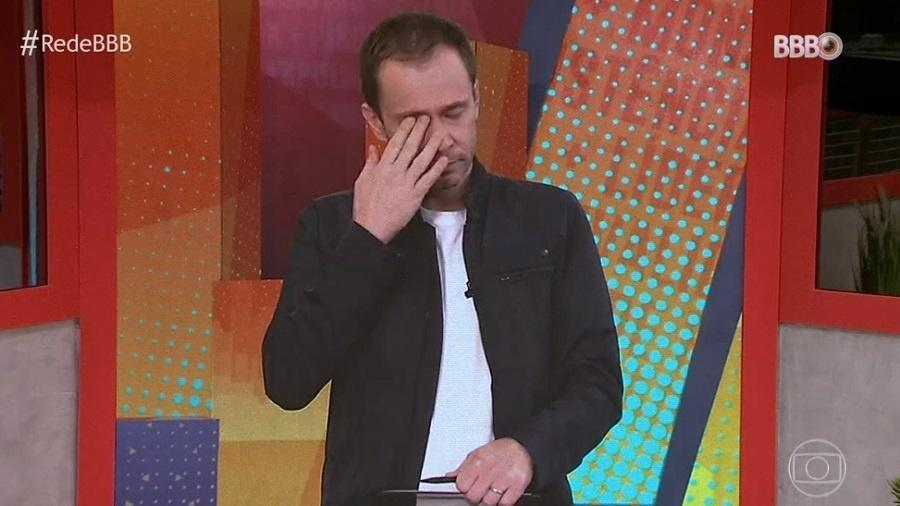 BBB 21: Tiago Leifert chora no BBB Dia 101 - Reprodução/TV Globo