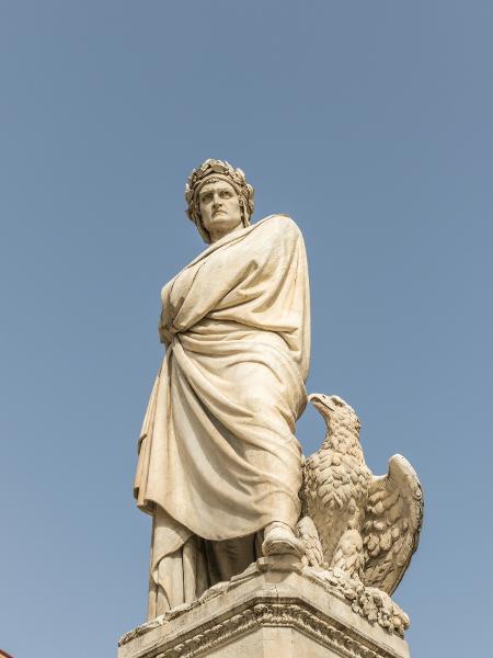 Monumento de Dante Alighieri, em Florença - Sergio Mendoza Hochmann/Getty Images