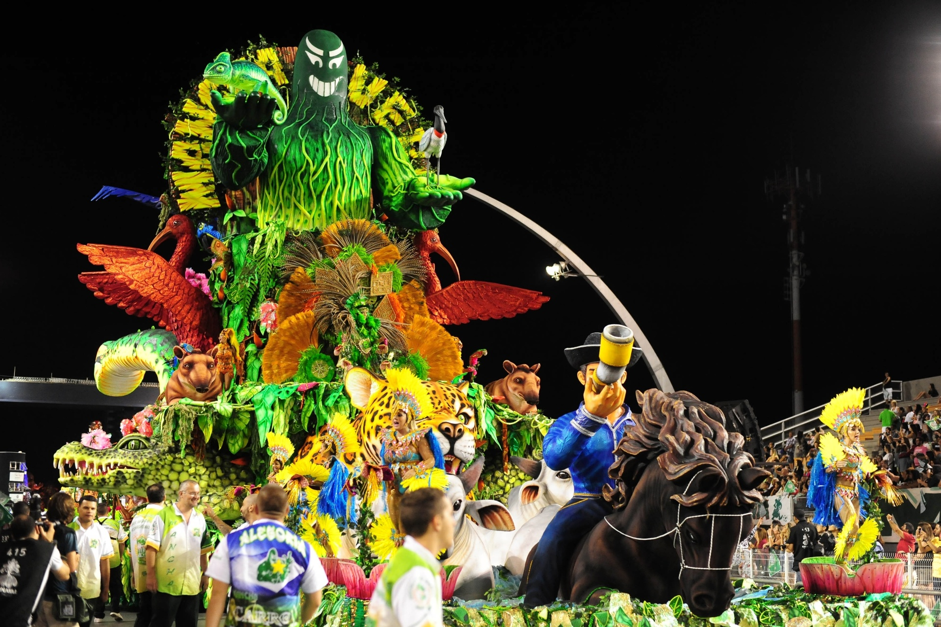 13.fev.2016 - A Mancha Verde homenageou Mato Grosso no desfile campeão de 2016