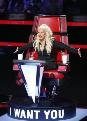 """Christina Aguilera no """"The Voice"""" 2016 - Reprodução/Trae Patton/NBC"""