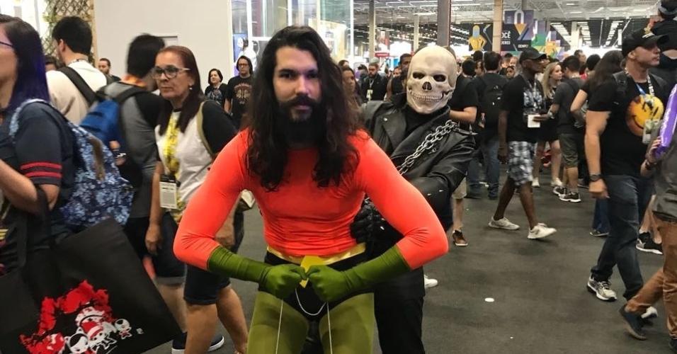 Aquaman e Motoqueiro Fantasma também compareceram à CCXP