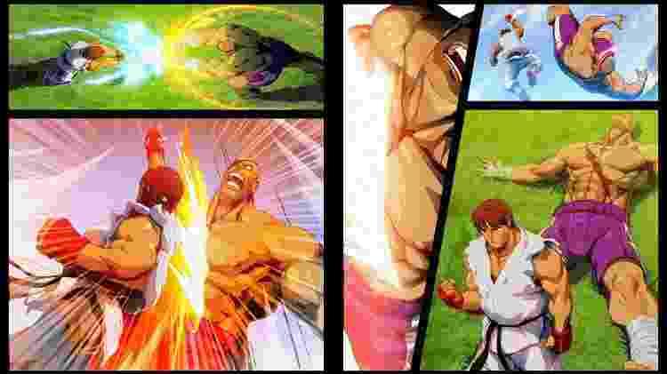"""Finais do modo """"Arcade"""" são imagens estáticas, com frase simples; escolha da Capcom deixou toda a narrativa para o modo """"História"""" do jogo - Reprodução"""
