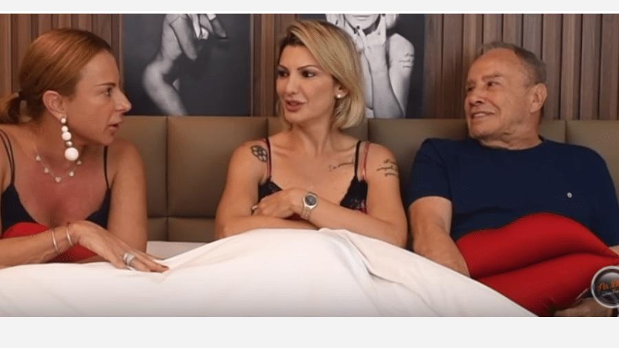 Antônia Fontenelle entrevista o casal Marilene Saade e Stênio Garcia - Reprodução/YouTube