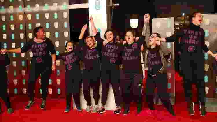 Grupo protesta no tapete vermelho do BAFTA - Hannah McKay/Reuters - Hannah McKay/Reuters