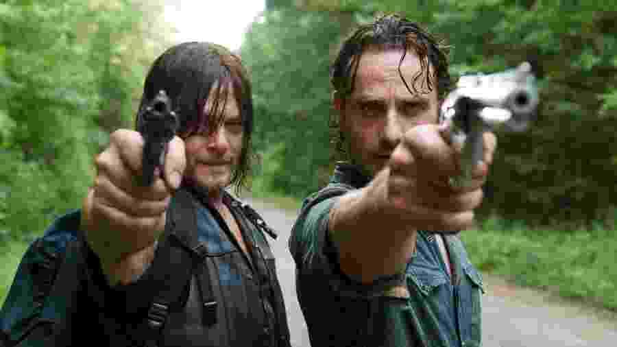 """Daryl e Rick em cena de """"The Walking Dead"""" - Divulgação"""