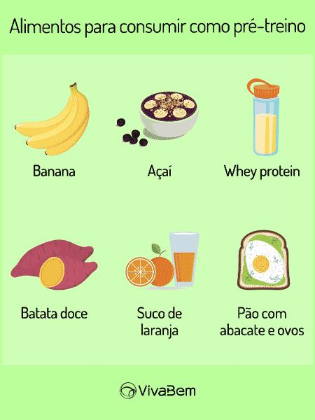 Alimentos para consumir como pré-treino -  -