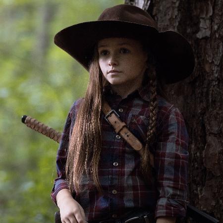 """Judith (Cailey Fleming) está crescida após salto temporal da nona temporada de """"The Walking Dead""""  - Jackson Lee Davis/AMC"""