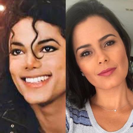 Denilson compara a mulher, Luciele Di Camargo, a Michael Jackson - Reprodução/Instagram/denilsonshow