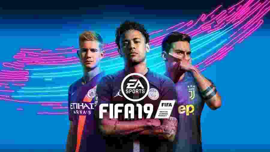 FIFA 19, última edição do game da EA Sports, traz imagem de Neymar - Divulgação
