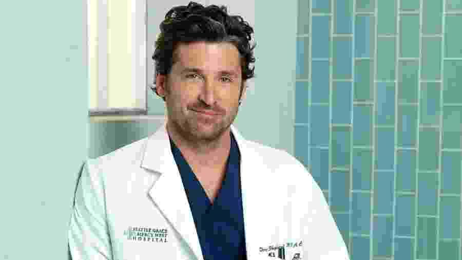 """Patrick Dempsey como o Dr. Derek Shepherd em """"Grey""""s Anatomy"""" - Divulgação"""