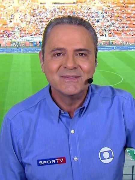 Luís Roberto transmite Flamengo e River na Globo - Reprodução/TV Globo