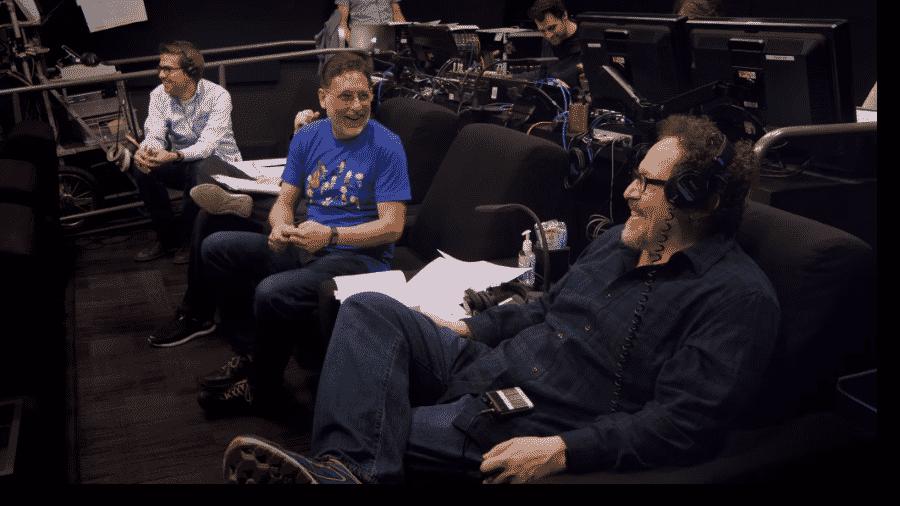Jon Favreau nos bastidores de O Rei Leão - Reprodução