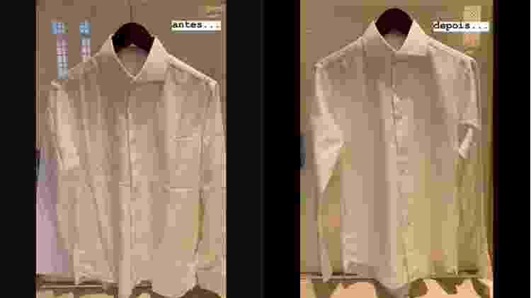 Luciano Huck mostra antes e depois de passar roupa - Reprodução/Instagram