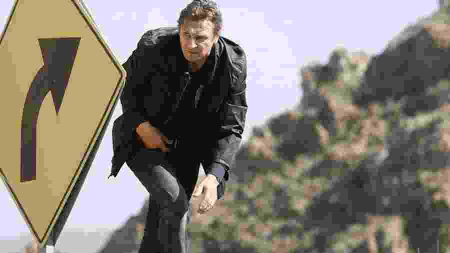 Liam Neeson em cena de Busca Implacável 3 (2014) - Divulgação/IMDb