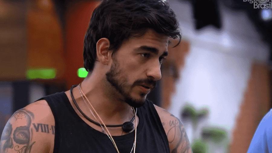 Guilherme fala com Felipe sobre indicação do líder - Reprodução/Globoplay