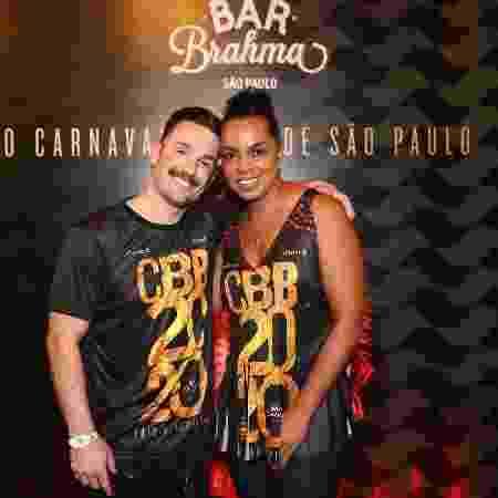 Diego Hypolito e Fofão prestigiam o camarote do Bar Brahma, em São Paulo  - Manuela Scarpa/Brazil News