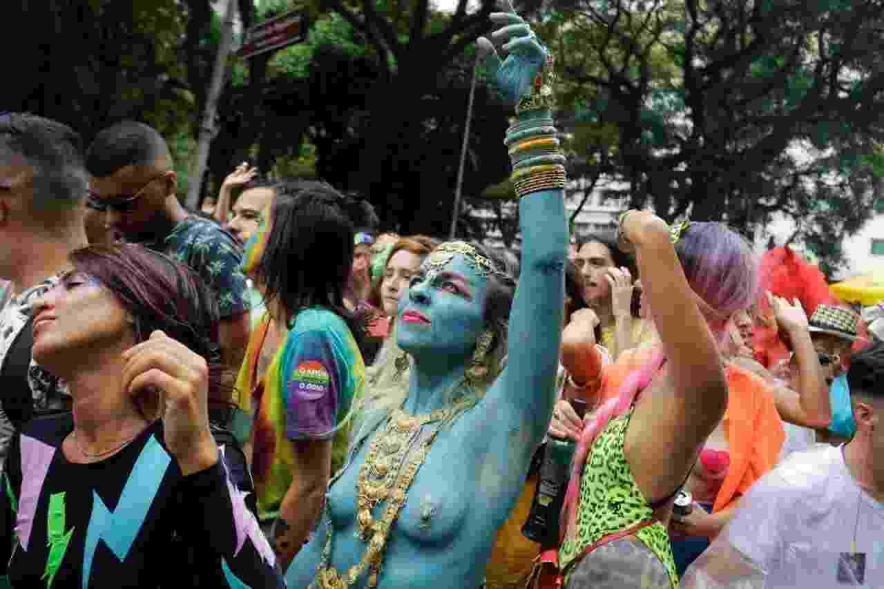 Bloco Tarado Ni Você dá cor para o Carnaval de São Paulo no centro - Nelson Antoine/UOL