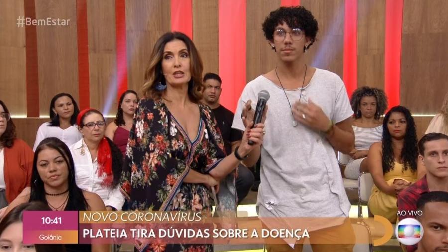 Jovem gripado participa do Encontro com Fátima Bernardes - Reprodução