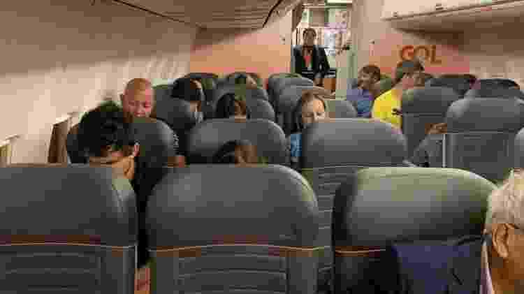 Imagem do voo da Gol que saiu sexta-feira com lugares vazios - Geslany Queiroz Freitas/UOL