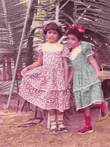 Preta e a irmã, Maria Gil, em festa junina quando crianças - Arquivo Pessoal - Arquivo Pessoal