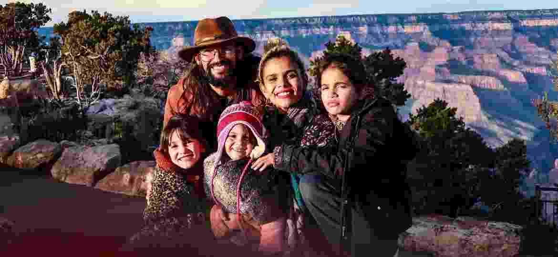A família Reis no Grand Canyon, Estados Unidos - Arquivo pessoal