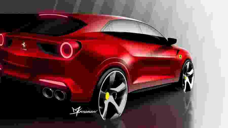 Renderização de SUV Ferrari Purosangue - Daniel Crossman