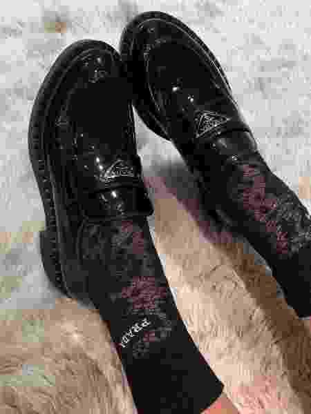 Chunky loafer com meia rendada - Reprodução/Instagram - Reprodução/Instagram