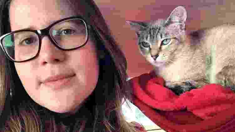 Samantha Hessel e sua gatinha Margot - Arquivo pessoal - Arquivo pessoal