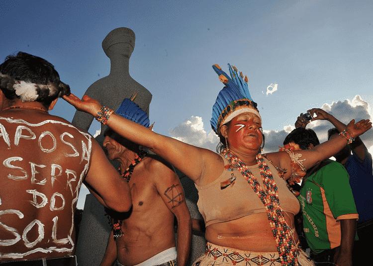 Indígenas Macuxi celebram em Brasília a demarcação da Terra Indígena Raposa Serra do Sol, em 2009 - José Cruz/Agência Brasil - José Cruz/Agência Brasil
