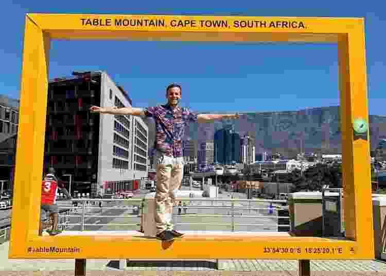 Fernando na Cidade do Cabo, na África do Sul - Arquivo Pessoal - Arquivo Pessoal