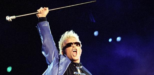O cantor Billy Idol foi uma das atrações do Rock in Rio em 1991 - Julio César Guimarães/Arquivo Pessoal
