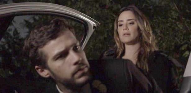 """Bruna (Fernanda Vasconcellos) sequestra Giovanni (Jayme Matarazzo) em """"Haja Coração"""" - Reprodução/GShow"""