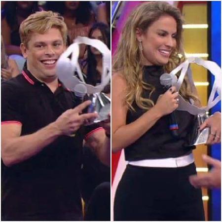 """Bruno e Maíra vencem o """"Saltibum"""" - Reprodução/TV Globo"""