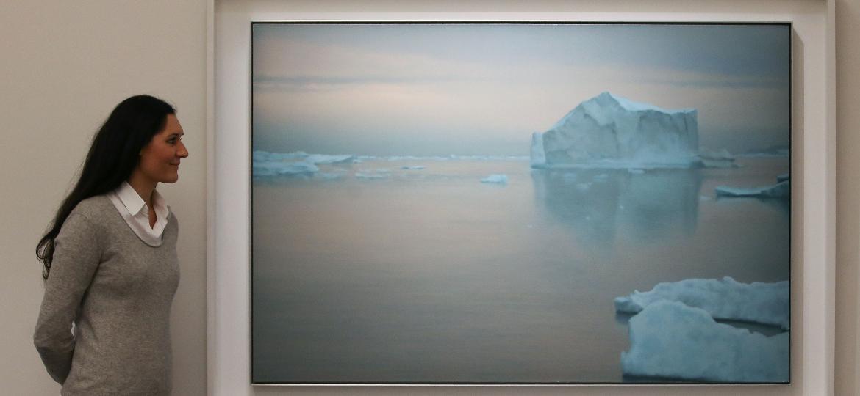 """Quadro """"Eisberg"""", de artista alemão Gerhard Richter, vendido por 20,4 milhões de euros - Daniel Leal-Olivas/AFP"""