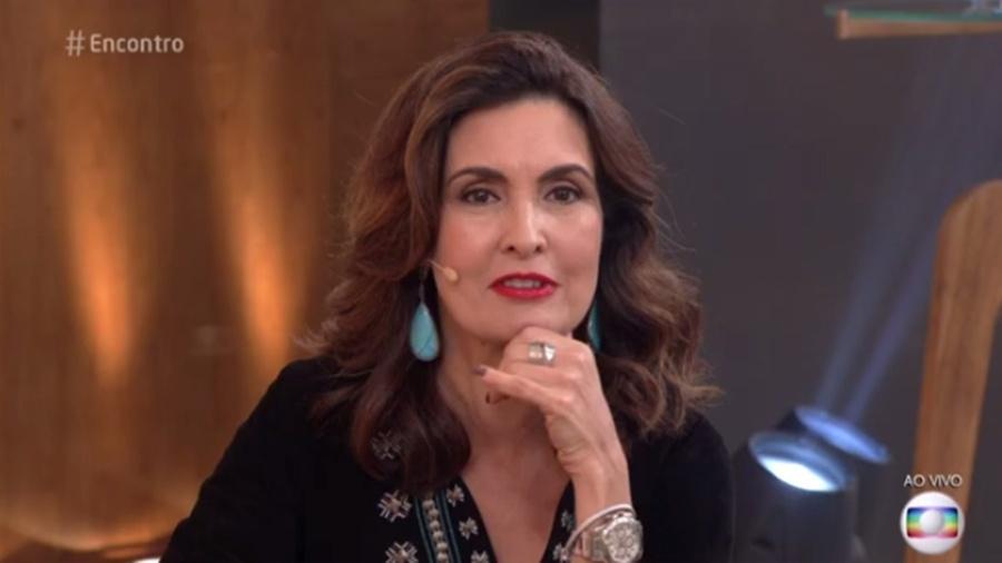 """Fátima Bernardes no """"Encontro"""" - Reprodução/Globo"""