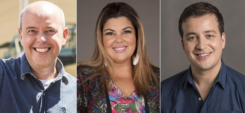 """Alex Escobar, Fabiana Karla e Rafael Cortez participarão do reality musical """"PopStar"""", da Globo - Montagem/Divulgação/TV Globo"""
