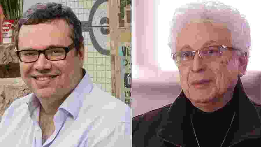 João Emanuel Carneiro e Aguinaldo Silva - Montagem/UOL