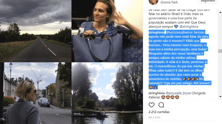 Amalia Stinghini, mulher de Evaristo Costa, fala sobre mudança do Brasil - Reprodução/Instagram/stringhinia - Reprodução/Instagram/stringhinia