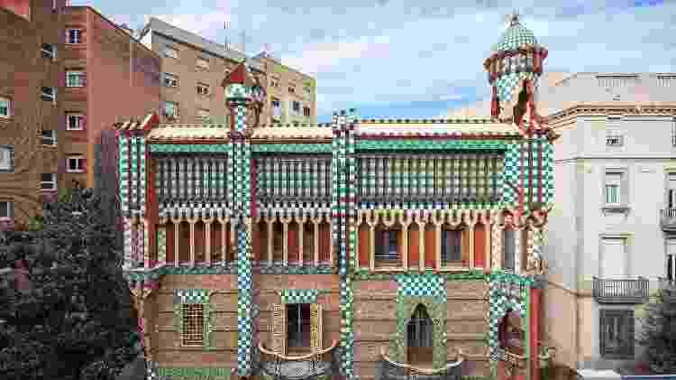 A Casa Vicens, em Barcelona, foi a primeira projetada por Gaudí - Divulgação - Divulgação