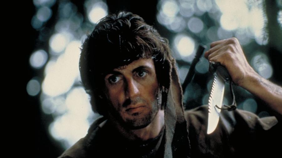 """Sylvester Stallone em cena de """"Rambo - Programado Para Matar"""" - Reprodução"""