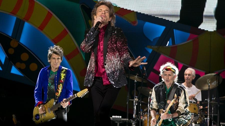 25.mar.2016 - Pela primeira vez na história, os Rolling Stones se apresentam em Cuba - Yamil Lage/AFP Photo